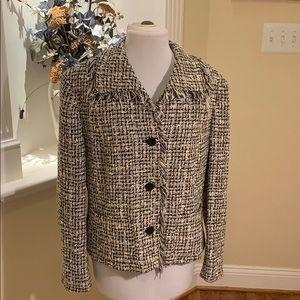 Jones New York Boucle Blk/white jacket